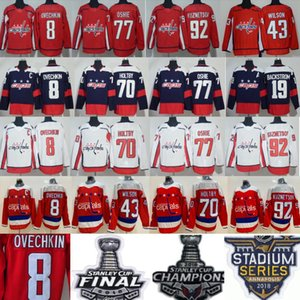 Hockey Washington Capitals Alexander Alex Ovechkin Jersey 8 Tom Wilson 43 Braden Holtby TJ Oshie Evgeny Kuznetsov Nicklas Backstrom Red Men