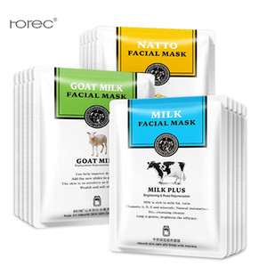 10pcs lot Han Chan Facial Mask Natto Goat Milk Sheet Mask Moisturizing Silk Mask Nourishing Face Skin Care