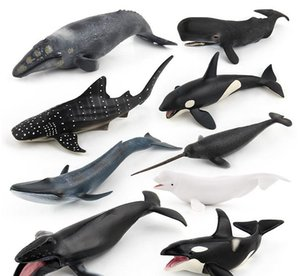 Toys Simulate Marine Animal Models Entity Simulate Whale Unicorn Several Whale Models Sell One by One