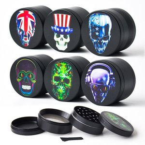 Wholesale New MM Layers Herb Grinder with pictures Metal Grinder Dry Herb Vaporizer CNC Teeth Filter