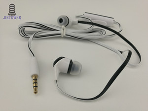 Wholesale earphone mic white resale online - 1 m Cable Length In ear Earphone Flat Noodle Design Wire Earphone with Mic blue white black noodle earphone with mic soft Material