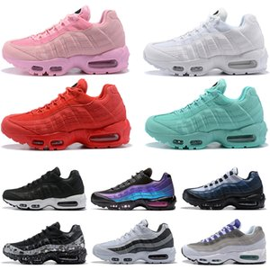 Wholesale 2019 Men Women Running shoes high quality all black yellow red pink black white Laser Fuchsia Mens Trainers Sneakers Sports shoes