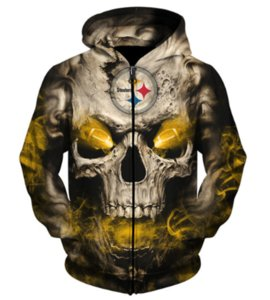 Wholesale Pittsburgh Penguins Steelers Skull New Hoodies Unique Pullovers Tops Unisex Women Men D Print Pullovers Outerwear Hoodies Casual Tops A316