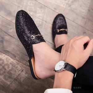 Wholesale Handsome2019 Tide Half Male Nothing Heel Adhesive Shoe Man Slipper Light Noodles Daily