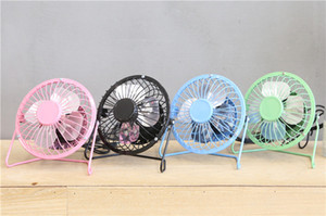 Wholesale CKV Mini USB iron metal big fan aluminum leaf small fan inch desktop fan Mix and Match Welcome