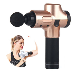 terapia de dor muscular venda por atacado-Dispositivo Pro Tissue Massagem Gun funda Muscle Massager Gun Cordless terapia de vibração Massager Corpo aliviar a dor Massagem Saúde