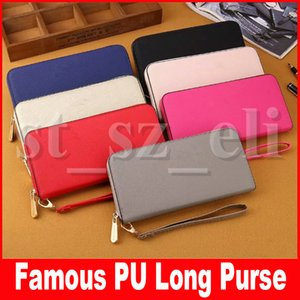 Famous Women Wallet Long Ladies Purse Wallets Fashion Hand Clutch Bags Women PU Leather Wallet with Card Holder Makeup Cosmetic Bags