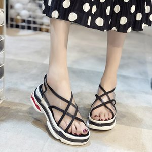 Clothes Other Sandals Motion Honor2019 Sponge Cake Set Foot Transparent Thick Bottom All-match Beach Shoes Woman Tide