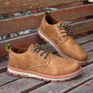Wholesale 2019 Pu Leather New EVA Brogue Shoes Man Platform Oxfords British Style Creepers Cut Outs Flat Casual Men Shoes Business