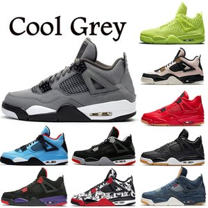 Wholesale 4 s Basketball Shoes for Men Women Cool Grey Raptors Drake Travis Scott KW Singles Day Best Quality Mens Trainers Sports Sneakers