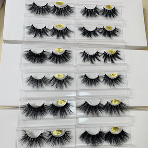 Wholesale real mink false eyelashes for sale - Group buy 25mm long and dramatic real mink eyelashes D large mink eyelashes false eyelashes styles