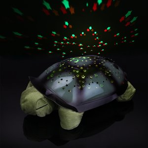 Wholesale Coquimbo Sleeping Turtle Nursery Light With Baby Music Usb Powered Plush Nightlight Projector Star Bedroom Night Lamp Q190611