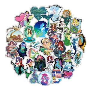 Wholesale Mermaid Laptop Decals Pack Stickers for Teens Girl Gift for Macbook ipad Car Luggage Water Bottle Bedroom