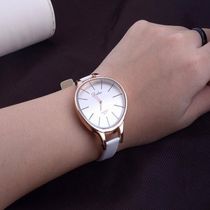 female strap New Fashion Ladies Casual Quartz Watches Luxury design Women dress watch Sexy Slim Leather Straps Big Dial female popular 2019