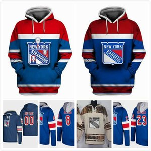Wholesale Custom NY Rangers Hoodies Boo Nieves 24 Vinni Lettieri 95 Cody McLeod 8 J.T. Miller 10 Peter Holland 12 Ryan Spooner 23 Stitched 2018 S-3XL
