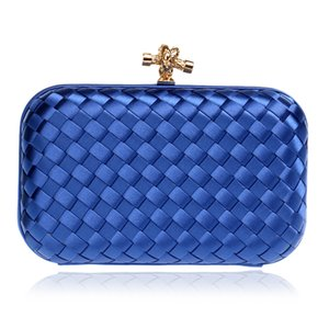 Elegant Ladies Evening Clutch Bag with Chain Cross Knit Weave Shoulder Bag Women'S Handbags Purse Wallets for Wedding on Sale