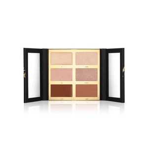 Pro Glow Highlight Contour Palette Eyeshadow 6 Shades Natural Bronzers Highlighters free shipping