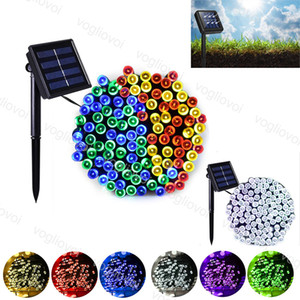 Solar Garden Lights Led string 52M 32M 300 400 LED RGB Single Color Light 8 Mode For Outdoor Garden Christmas Holiday Decoration DHL