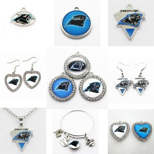 Wholesale US Football Team Carolina Charms Panthers Dangle Charms Sports DIY Bracelet Necklace Pendant Jewelry Hanging Charms