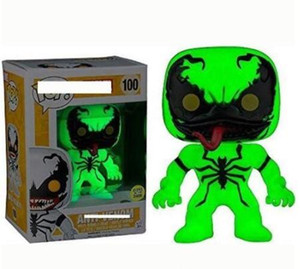 Wholesale venom toys resale online - Funko Pop lightering venom Vinyl Action Figure With Box Gift Toy for kids Good Quality Christmas gift