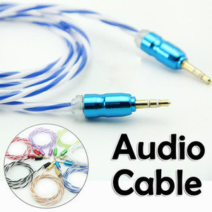 Wholesale New arrival audio Stereo AUX Car Audio Cable Male to Male Colorful Video Cable Line for Phones MP3 Speaker PC
