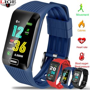 Wholesale LIGE New Smart bracelet Pedometer Sport Smart Watch LED touch screen Activity tracker Waterproof Wristband For Android ios