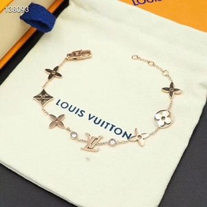 Wholesale Paris Fashion Designer women Stainless steel chain brand Bracelets Millionaire Woman wristband Pattern lady jewelry Louis Charm chain