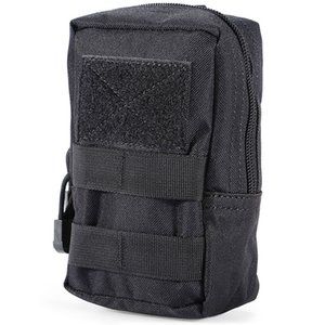 Outdoor Waist Bag Water-resistant Nylon Mobile Phone Pouch Bags CS Multi-function Tactical Equipment Accessory Running Pocket