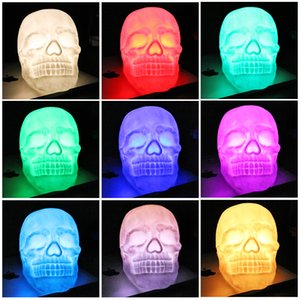 Wholesale JML Colorful Funny Halloween Skull LED Lights Safty Creative Changing Color Night Light Atmosphere Table Lamp Halloween Gift