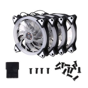 Wholesale 1Set MM Computer PC Laptop Case Cooling Fan Adjustable RGB LED Light Cooler