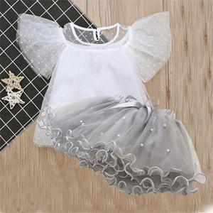 Fashion Girl kids clothes Set children clothing 3 colors Snowflake top + TuTu skirt 2PCS Sets Kids Designer Clothes Girls MJY323 on Sale