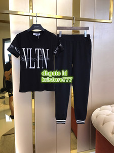 Wholesale Women Fashion Luxury Designer Jogging Letter Two Piece Pants Short Tops Tee T Shirt Long Legging Pants Shirt Casual Brief Sets Tracksuit