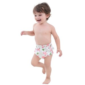Potty Training Pants Reusable Underwear Cartoon Baby Diaper Pant Soft Cotton Training Pant Animal Print Cloth Diapers Nappies GGA2121 on Sale