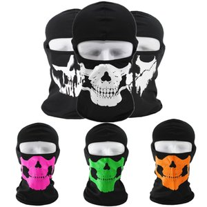 Hot 2020 Halloween dress up face mask Terrorist Skull Mask Outdoor personality headgear Motorcycle windproof collar 6 colors.