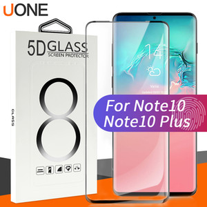 Wholesale For Samsung Note plus D Case Friendly Fingerprint unclock tempered glass Curve Edge Screen Protector For Galaxy S10 s9 s8 with package