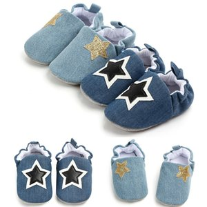 Wholesale Five pointed Star Baby Girl Boy Anti slip Socks Newborn Crib Shoes Months