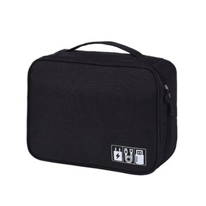 Wholesale Wobag New Electronic Accessories Travel Bag Organizer For Date Line SD Card USB Cable Digital Device Bag Polyester Mens
