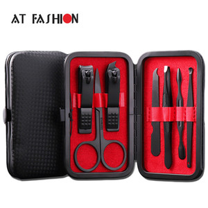 New Arrival Manicure Set Professional Black Stainless Steel Nail Clipper Kit Finger Plier Nails Art Pedicure Toe Nail Tools Set