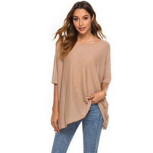 Wholesale Sexy strapless bat sleeve sweater shirt female thin section loose solid color round neck sweater female