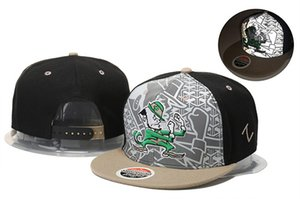 Wholesale college football hats Notre Dame Fighting Irish caps black gray snapbacks hat adult and youth cap mix order