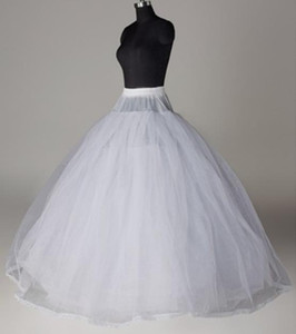 8 Layers Hard Tulle Non Hoops Petticoats For Wedding Party Puffy Skirt Dresses Ball Gown Style Crinoline Bridal Inner Skirt AL2630