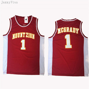Wholesale hot College McGrady Jersey Christian MT ZION T Mac Mountzion Basketball Jerseys Team Color Black Breathable University jerseys shirts
