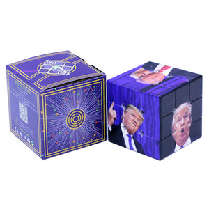 Wholesale Party Toys Funny Trump Magic Cube CM Speed For Magic Puzzle Trump UV Print Sticker For Children Adult Education Toy