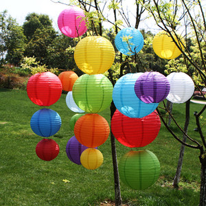 Wholesale 6 inch Round Chinese Paper Lanterns Birthday Wedding Decor Gift Craft DIY Lampion Hanging Ball Party Supplies