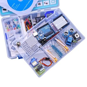 Freeshipping d Advanced Version Starter DIY Kit Learn Suite Kit LCD 1602 for UNO R3 With CD Tutorial EU US Plug