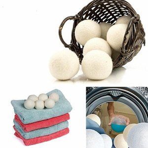 Wholesale Laundry Clean Ball Wool Dryer Balls Premium Reusable Natural Fabric Softener inch Static Reduces Helps Dry Clothes in Laundry Quicker