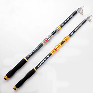 Wholesale 2018 New Design Black Rock Fishing Rod Stream Hand toughness Carbon Fiber Spinning Fishing Rods