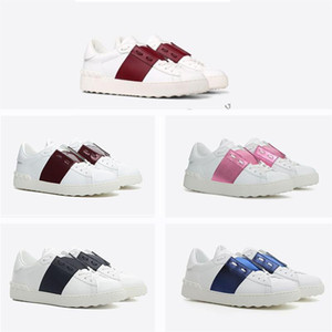 Wholesale New Brand Rivets Flats Shoes Metal Spike Lady Comfort Shoe Women Men Weaving Leather Patchwork Fash Ion Casual Shoes Studded