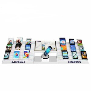 Wholesale acrylic abs material No alarm No charger universal mobile phone dummy retails store display counter acrylic holder kits