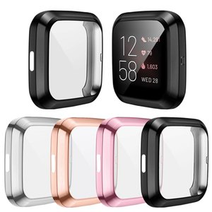 For Fitbit Versa 2 Watch Slim Full Screen Protector Protect Bumper Frame Case Cover Skin